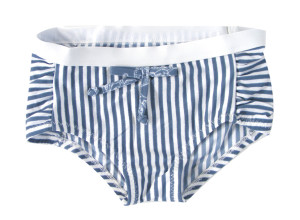 girls bathers in navy stripe