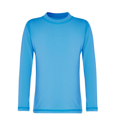 light blue long sleeved rashie