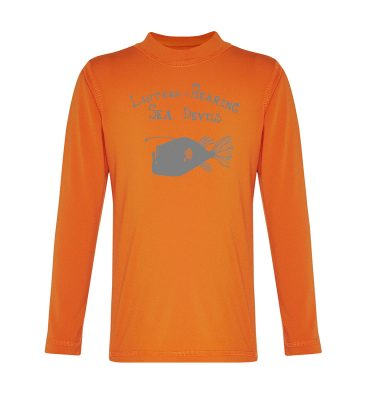 long sleeved rashie orange