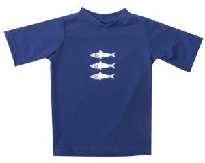 navy rashie kids fish print