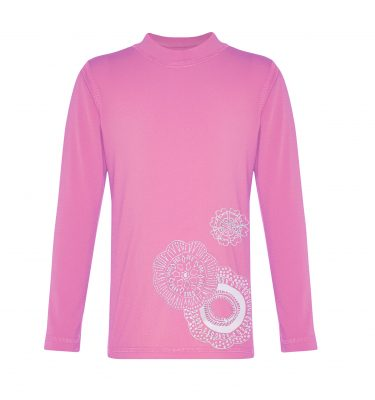 long sleeved rashie in pink