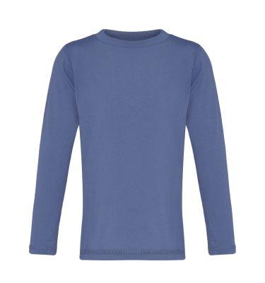 long sleeved blue rashie kids