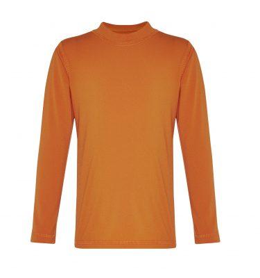long sleeved orange rashie