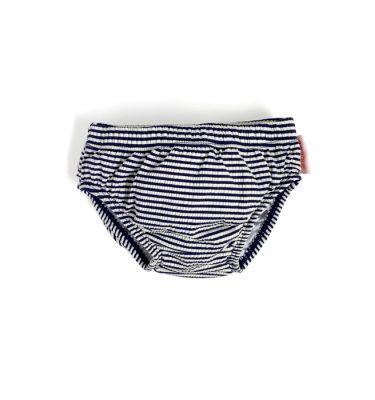 swimming nappy in navy stripe