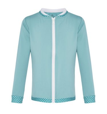 long sleeved in aqua